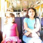 Women making strides on public transport. By ¡Carlitos.