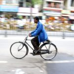 Cycling through Mysore, India