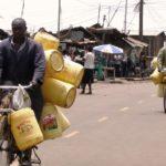 Cycling water vendors Nairobi, Kenya. Photo by Victoria Hickman/Engineering at Cambridge.