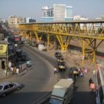 Mumbai India's skywalks have been a symbol of poor planning for the city, but with public engagement and key design initiatives, the skywalk still has the potential to increase access for the residents of the city. Photo by TheMumbaiflyover/Flickr.
