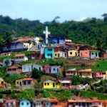 A Brazilian slum, or favela, and a cross. Pope Francis's Encyclium addresses urban poverty and inequality as well as climate change. Chico Ferreira/Flickr